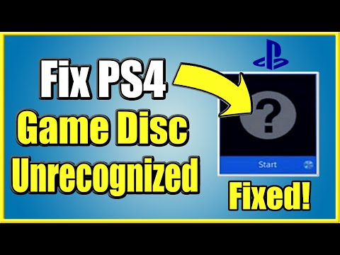 How to FIX PS4 Unrecognized DISC that won't start! (4 Steps and More!)