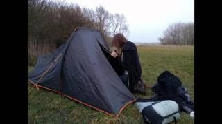 A camp in the Essex fens