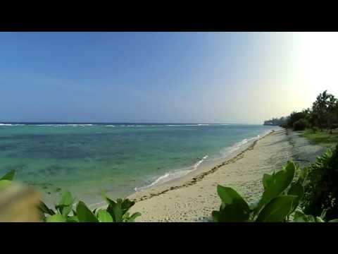 Relaxing Tropical Beach with Blue Sky, White Sand - Tiwi Beach, Kenya