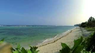 Relaxing Tropical Beach with Blue Sky, White Sand - Tiwi Beach, Kenya