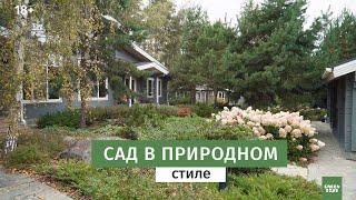 Как сделать красивый сад в природном стиле  Ландшафтный дизайн.