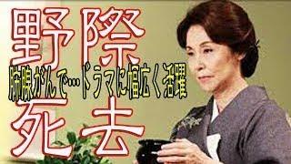 女優、野際陽子(のぎわ・ようこ)さんが13日に肺腺がんのため死去し...