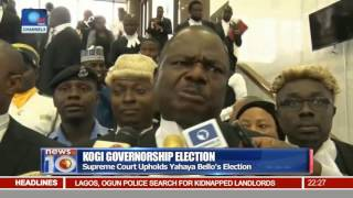 News@10: Court Upholds Yahaya Bello's Election As Kogi State Governor 20/09/16 Pt.2