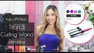 NuMe Titan 3 Curling Wand Review And Tutorial