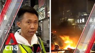 Live round fired amid violent protests over Hong Kong mask ban