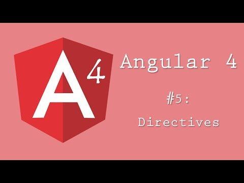 Angular 4 Tutorial 5: Directives