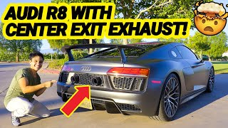 Audi R8 V10 Plus with CENTER EXIT EXHAUST Sounds EPIC! (Full Driving Review)