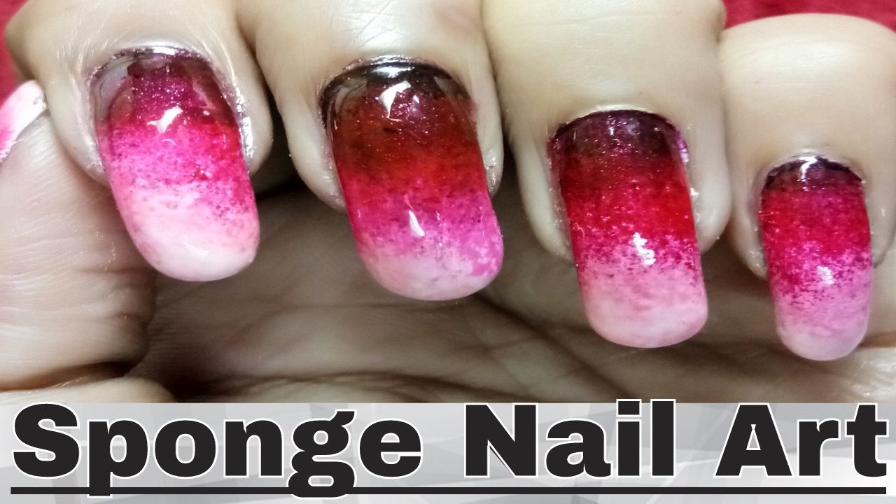 Quick and Easy Nail Polish Designs with Sponge - gradient ...