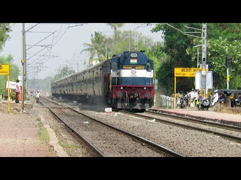 BLAZING DIESEL TRAINS [7 in 1] : ALCO + EMD : Pune Solapur Intercity + Chennai Express + Many More