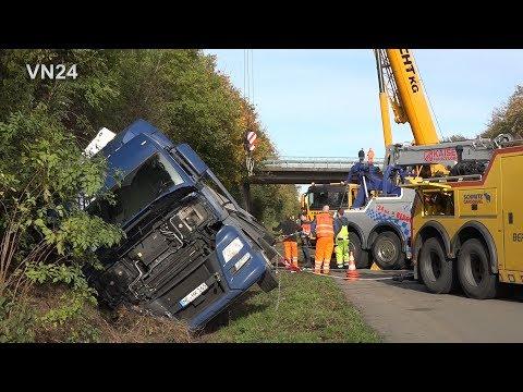 08.11.2019 - VN24 - LKW Unfall Auf A1 - Komplizierte Bergung Dauert Stunden