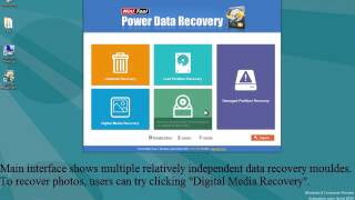 Recovering  photos on hard drive, memory card, USB drive, etc (MiniTool Power Data Recovery)
