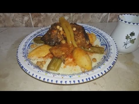 couscous-sauce-rouge-à-la-viande'-كسكسي-المرق-الأحمر-باللحم-'بربوشة