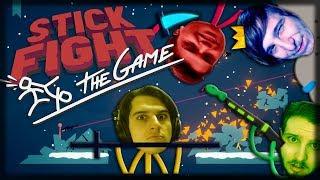 Jogando Stick Fight: The Game - Bugs, Lasers e DORITOS!!