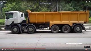 交通 照片 / 影片 (82) 很多5軸 重型卡車在 新清水