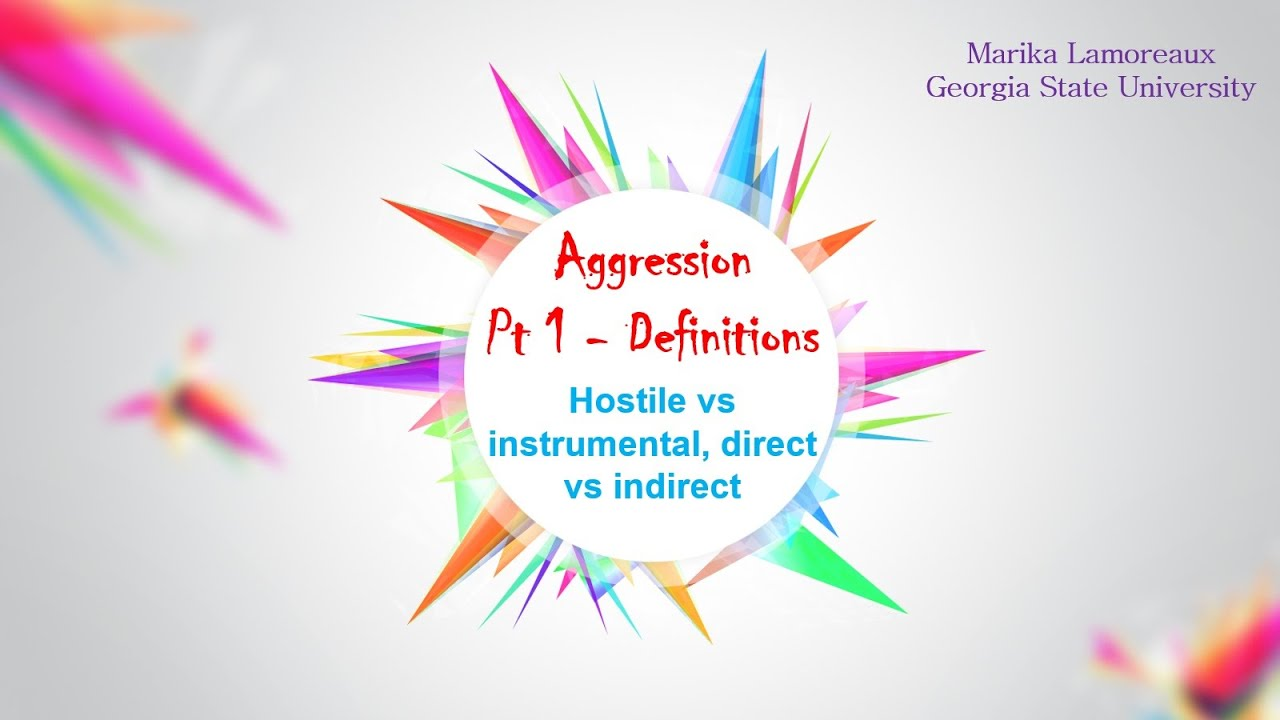 Aggression 1 definitions youtube alramifo Images