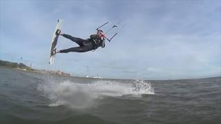 Kitesurfen Terschelling, Netherlands, groene strand - AKA Bart The Movie