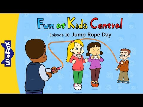 Fun At Kids Central 10 | Jump Rope Day | School | Little Fox | Animated Stories For Kids