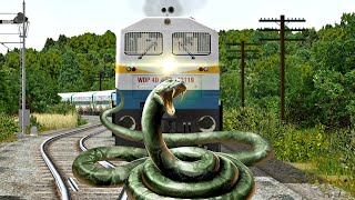 CRAZY ANACONDA STOPS THE TRAIN AT UNMANNED LEVEL CROSSING IN INDIAN TRAIN SIMULATOR
