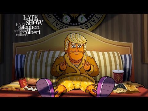 Cartoon Donald Trump Is Visited By Ghosts Of Presidents Past