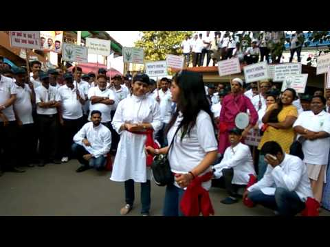 Food Corporation of India Zonal Office West Mumbai Nukkad Natak in Swachta Abhiyaan at Borivali