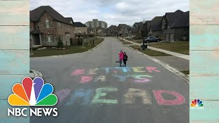 Americans Spread Messages Of Hope With Sidewalk Chalk | NBC Nightly News
