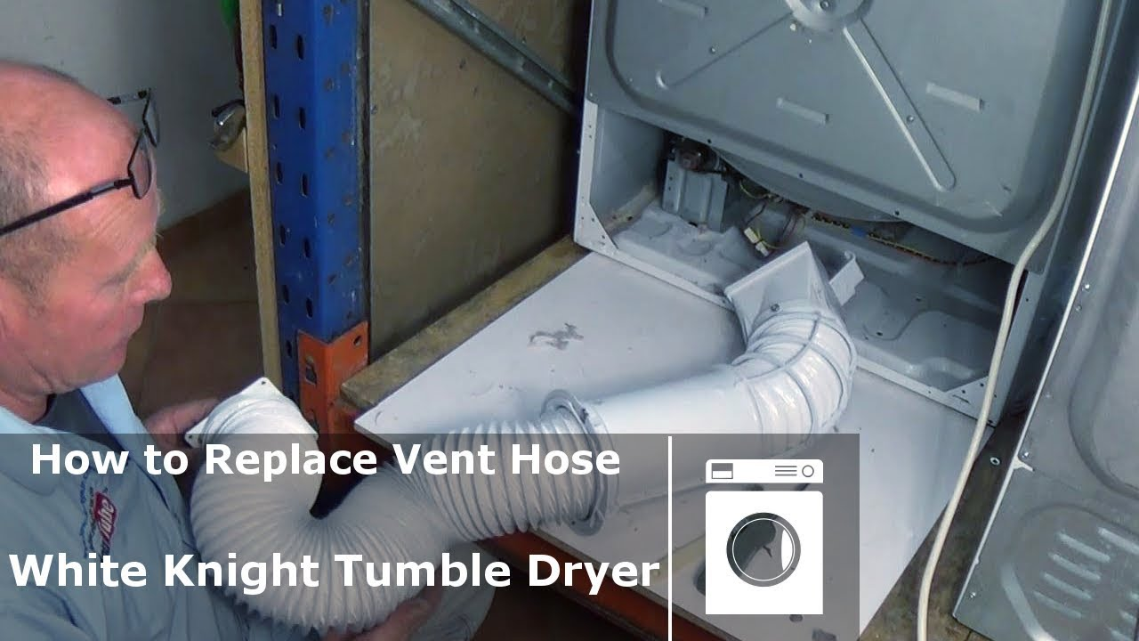 White knight how to replace vent hose u0026 service tumble dryer & White knight how to replace vent hose u0026 service tumble dryer - YouTube