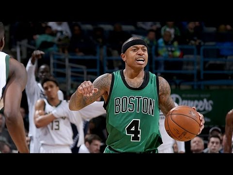 Greek Freak Spin Dunk! Isaiah Thomas 37 Pts Overtime Battle Celtics vs Bucks
