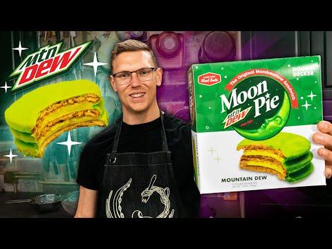 mountain-dew-moon-pie-taste-test-|-snack-smash-|-mythical-kitchen
