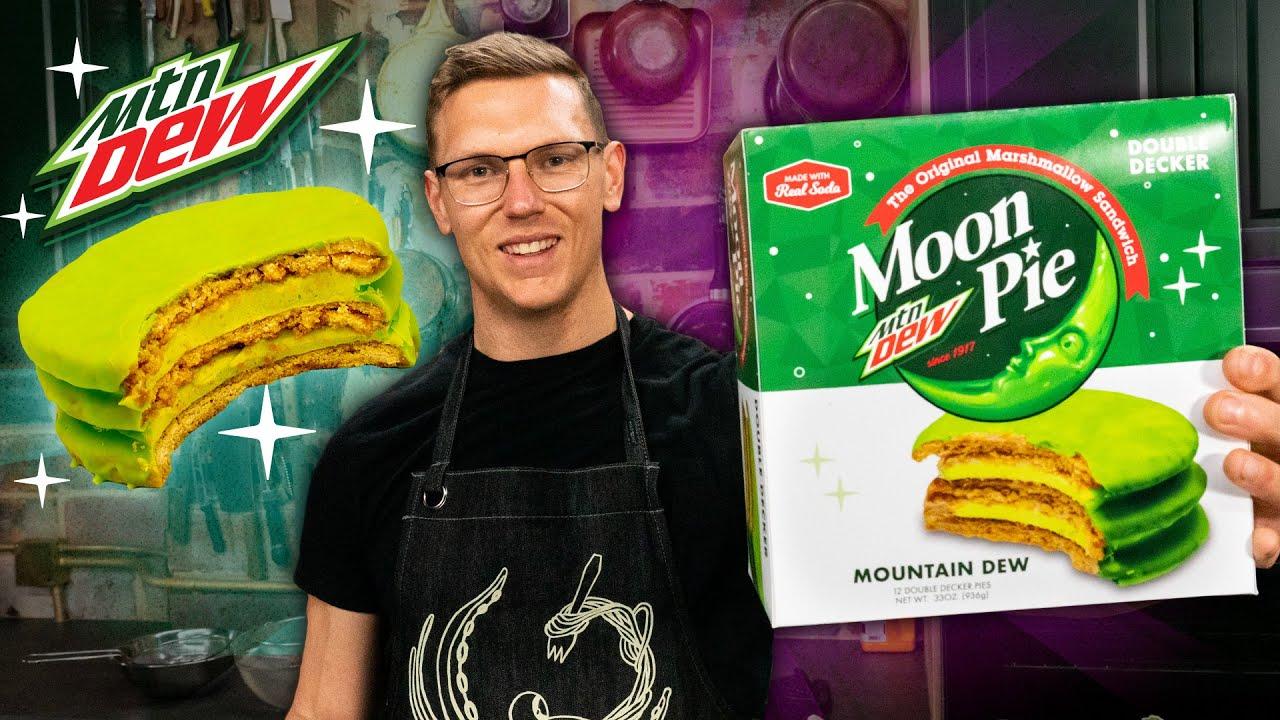 Mountain Dew Moon Pie Taste Test | SNACK SMASH | Mythical Kitchen
