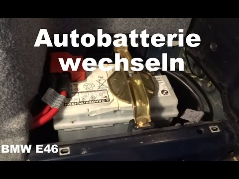 autobatterie wechseln car battery replacement bmw e46. Black Bedroom Furniture Sets. Home Design Ideas