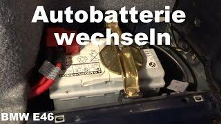 Ständig bmw batterie e46 leer Batterie immer