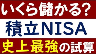 【史上最強の試算】積立NISA・20年後はいくら儲かる?
