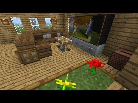 Tutorial como decorar tu sala en minecraft youtube for Sala de estar no minecraft
