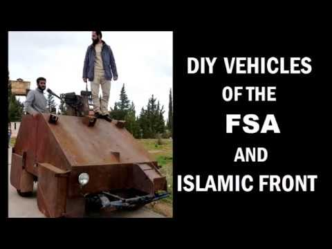 Syrian Civil War - Homemade Tanks and Armored Cars - YouTube