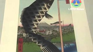Lao NEWS on LNTV-Japanese art of woodblock printing on display in Vientiane. 10/06/2013