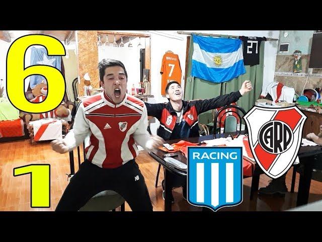 RACING 1 RIVER 6 | REACCIÓN ÉPICA de Hinchas de River | Superliga Fecha 3