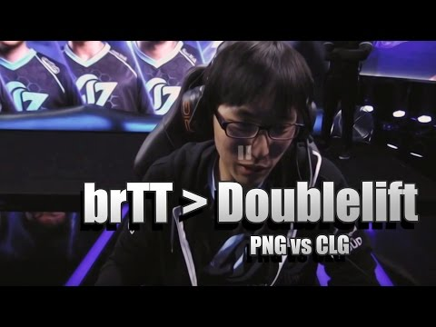 """Doublelift about reading messages saying ""Pain Gaming brTT is better than Doublelift"" - PNG vs CLG"""