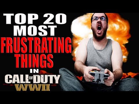 TOP 20 MOST FRUSTRATING THINGS IN CALL OF DUTY WWII! COD WW2 TOP 20 COUNTDOWN