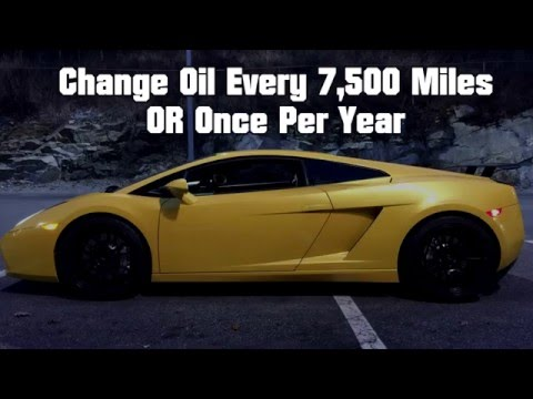 24k Mile Oil Change In Depth Tutorial – Lamborghini Gallardo