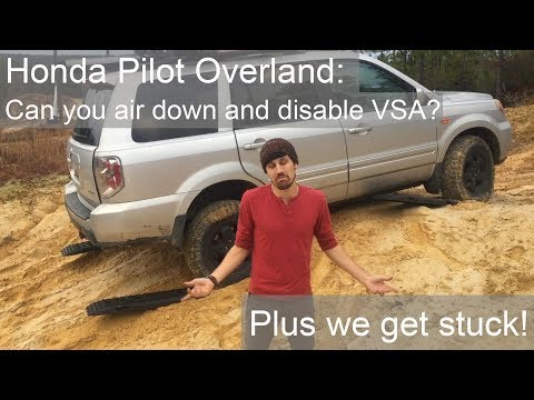 Honda Pilot Overland: Can you air down and disable VSA? Plus we get stuck..