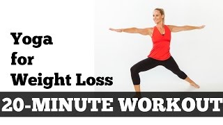 Yoga for Weight Loss Full Length Fat Burning Workout | Intermediate 20 Minute Cardio Yoga Flow