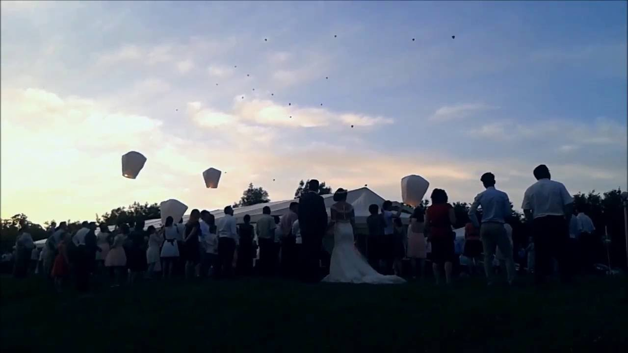 Sky Lanterns | Wedding 2016 - YouTube