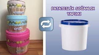 PLASTİK KOVADAN PATATES SOĞANLIK YAPIMI-GERİ DÖNÜŞÜM //HOW TO RECYCLE PLASTIC BOX