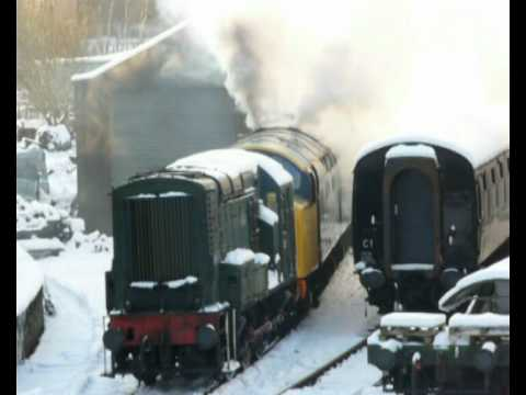 deltic diesel electric  train cold start up