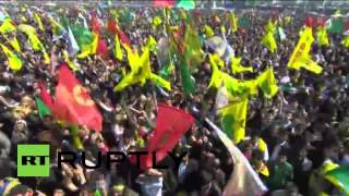 Turkey: Hundreds of thousands celebrate Kurdish New Year in Diyarbakir