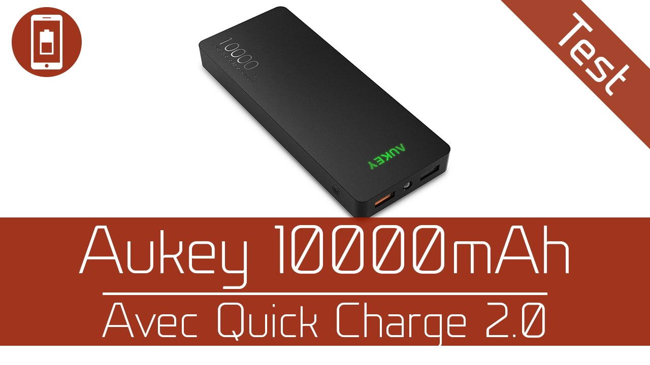 micro test aukey powerbank 10000mah avec qc 2 0 youtube. Black Bedroom Furniture Sets. Home Design Ideas