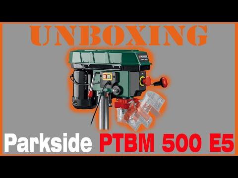 Unboxing Taladro de columna Parkside PTBM 500 E5 + montaje + test