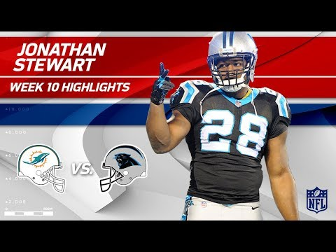 Jonathan Stewart's 110Yard Game vs. Miami!  Dolphins vs. Panthers  Wk 10 Player Highlights