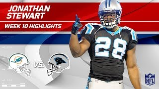 Jonathan Stewart's 110-Yard Game vs. Miami! | Dolphins vs. Panthers | Wk 10 Player Highlights