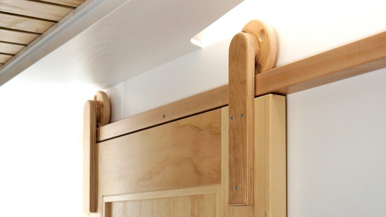 How To Make Wooden Barn Door Hardware - YouTube